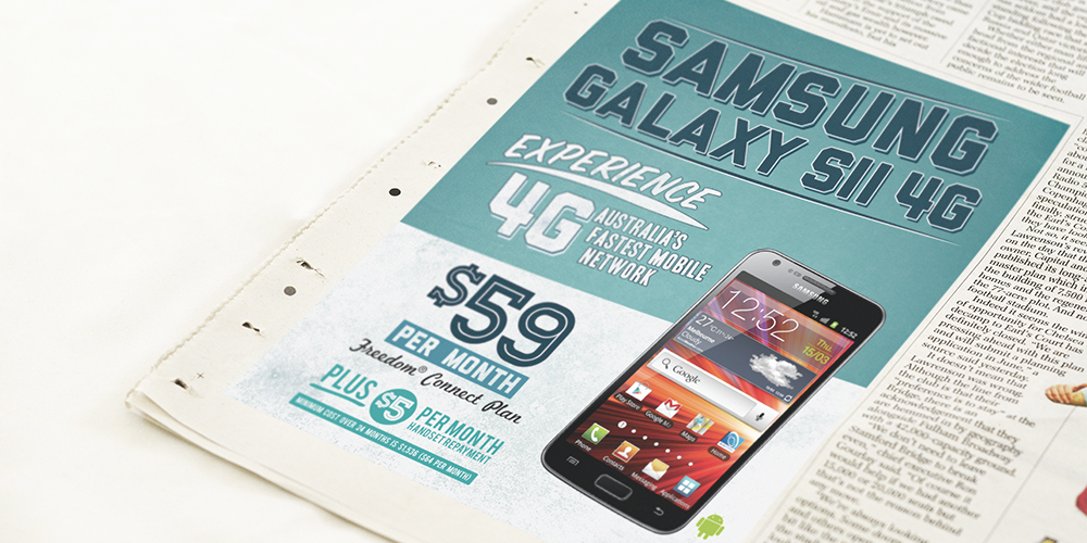 Fone Zone Samsung Galaxy S2 Newspaper Mockup