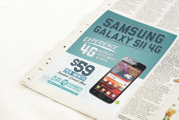 Fone Zone Samsung Galaxy S2 Newspaper Mockup