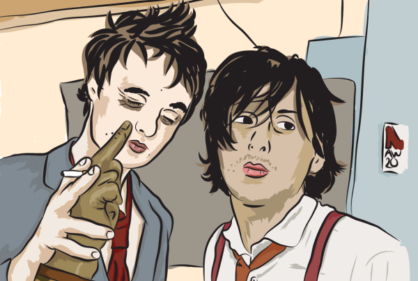 Pete Doherty and Carl Barat Vector Illustration